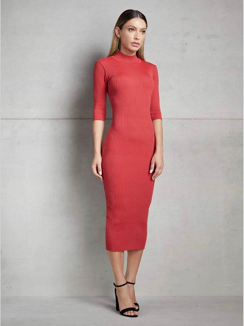 Vestido midi tricot vermelho - Skazi