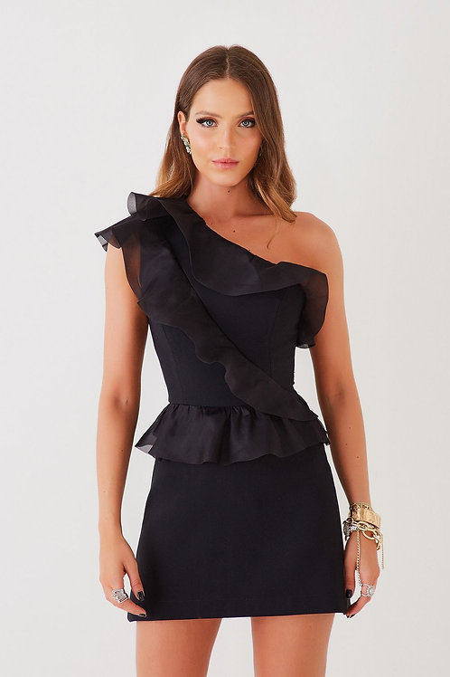 Vestido curto Gabriele preto Fabulous Agilita