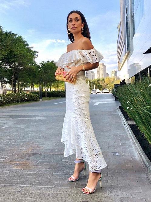 Vestido midi laise Silvia Braz - Amíssima