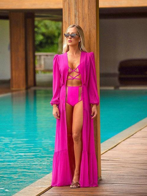 Saida de praia Santorini pink Al Mare Fabulous Agilita