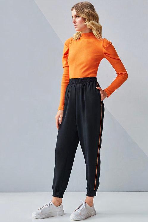 Conjunto laranja calça jogger e blusa tricot Skazi Sclub