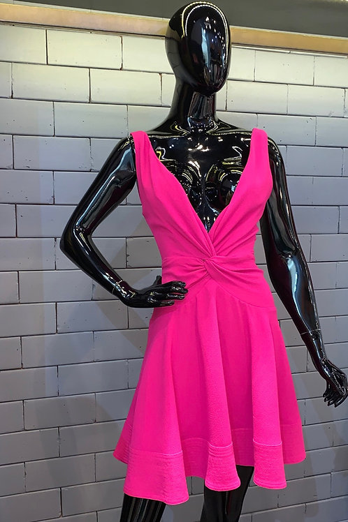Vestido curto torção pink Skazi