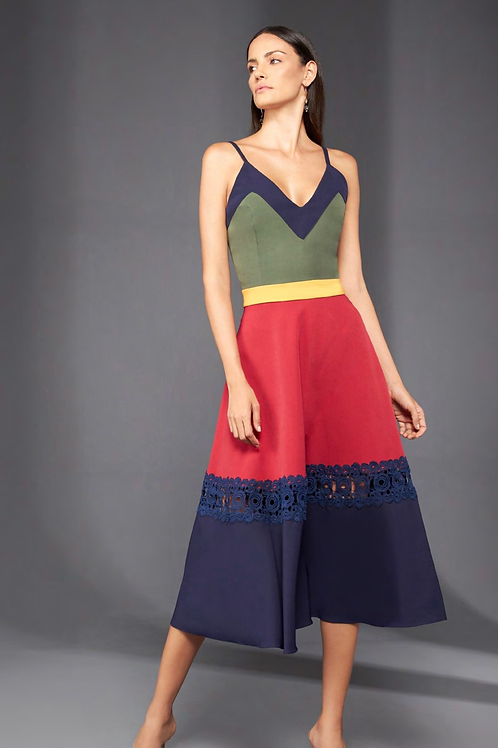Vestido recortes multicolor Skazi SClub