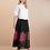 Thumbnail: Saia longa em tricot rosas Skazi