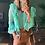 Thumbnail: Blusa detalhes babados e renda e seda pura - PatBo
