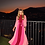 Thumbnail: Vestido basic gola tricolor crepe tons de pink Skazi Thassia Naves