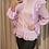 Thumbnail: Blusa detalhe babados em seda pura lilás PatBo
