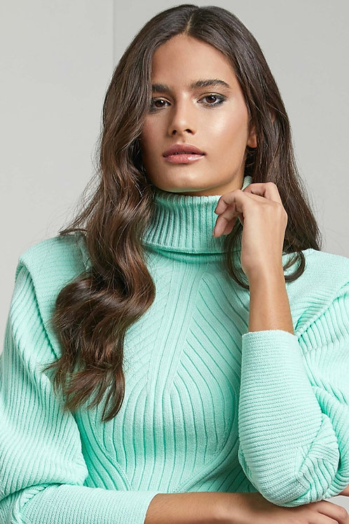 Blusa pull tricot verde menta - Iorane