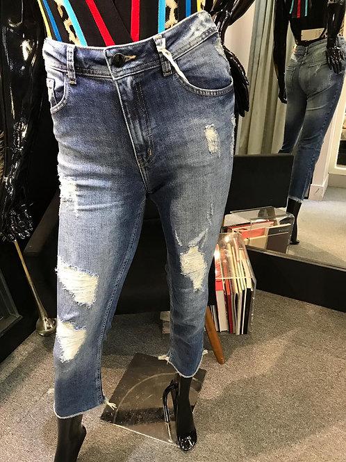 Calça jeans destroyed Shoulder