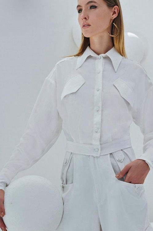 Camisa bolsos diagonais off white Skazi Sclub