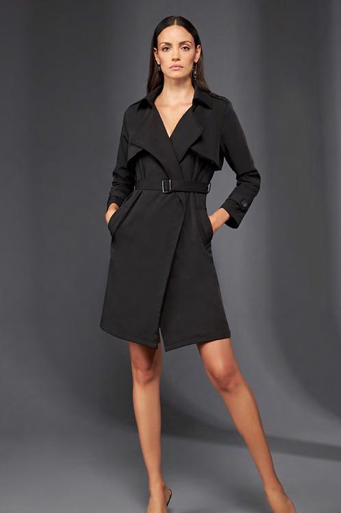 Casaco Trench coat com cinto preto Skazi Sclub