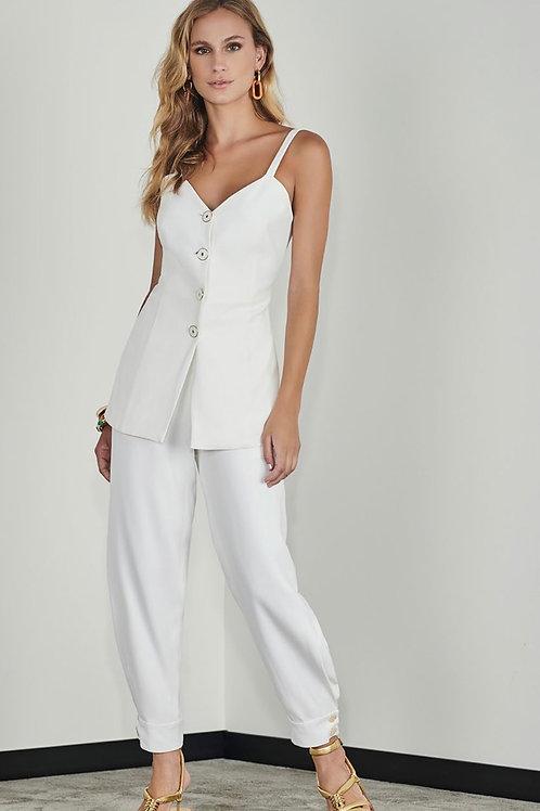 Blusa alfaiataria off white - Iorane