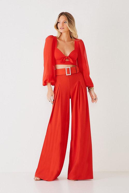 Calça Beatriz red Fabulous Agilita vermelho