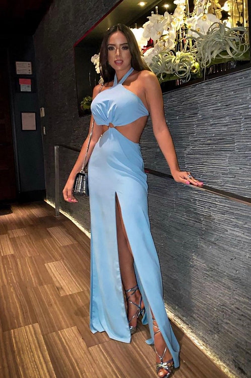 Vestido longo argola azul bebê Skazi Sclub
