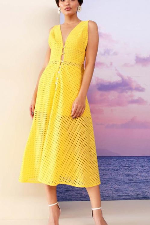 Conjunto/vestido c/ short e capa amarelo Skazi Sclub Eurosummer