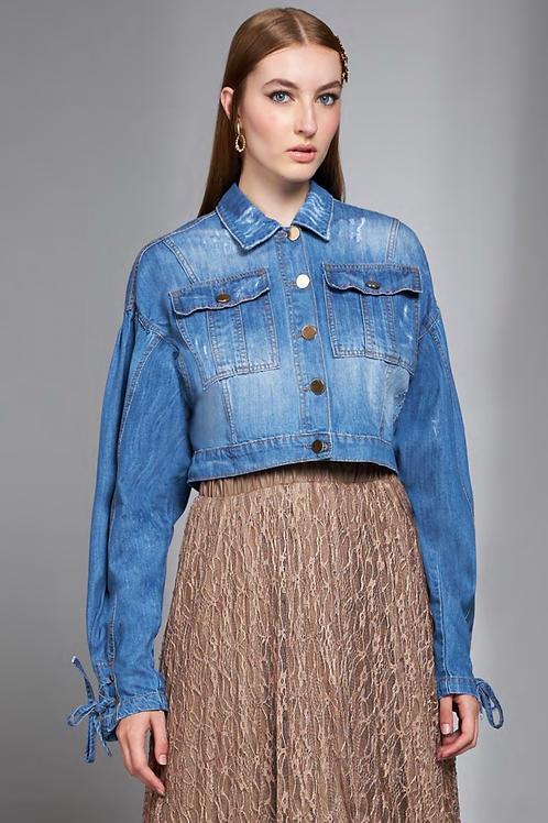 Jaqueta jeans botões Skazi Sclub