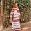 Thumbnail: Conjunto blusa e saia bordado em linha vermelho Skazi Sclub
