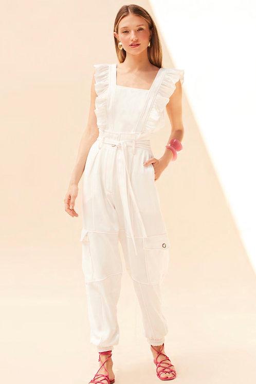 Conjunto blusa e calça presponto off white Skazi Sclub