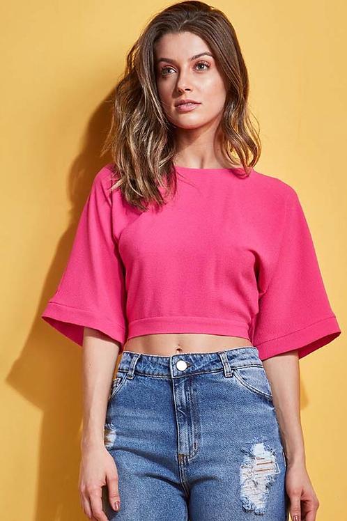 Blusa botões e amarração pink Skazi Sclub