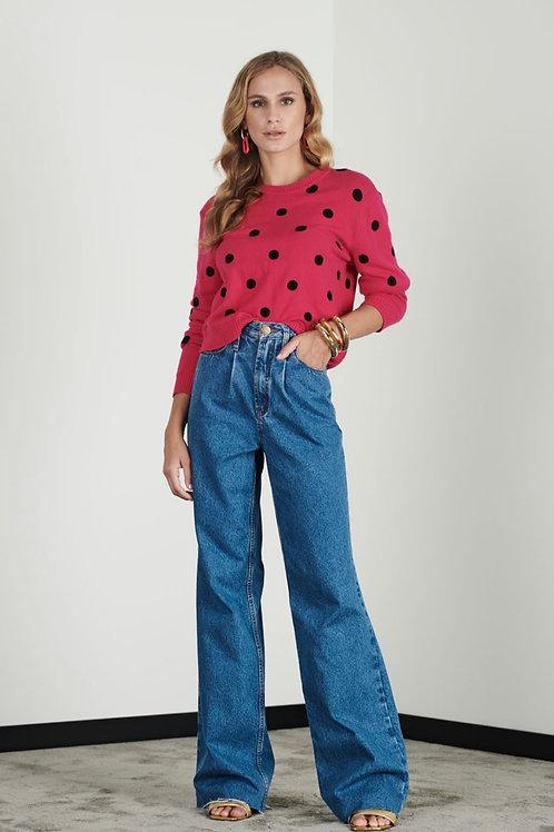 Calça pantalona jeans - Iorane