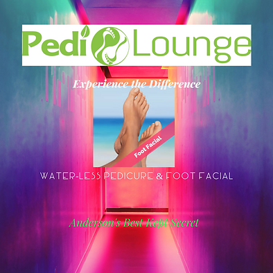 Pedi Lounge, foot facial, water-less ped
