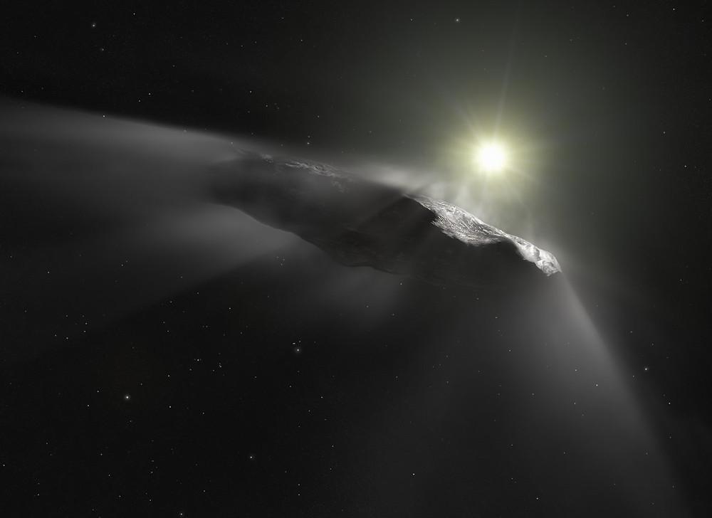Artist impression of 'Oumuamua
