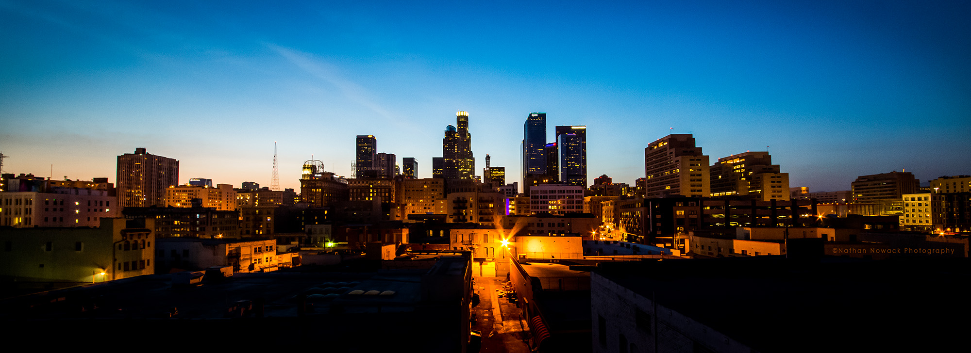 DTLA-LosAngeles-night-skyline-panoramic