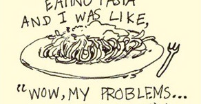 """""""I don't know, man...I just started eating pasta and I was like..."""""""