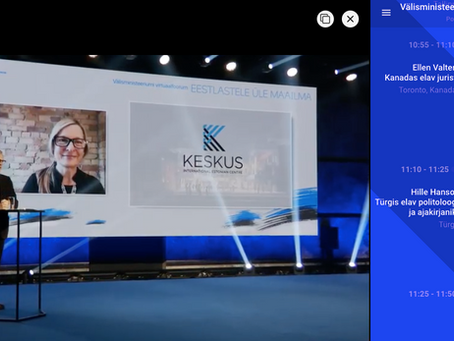 KESKUS Presented at Estonia's Ministry of Foreign Affairs Virtual Forum