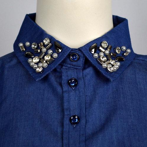 Los kraagje jeans/diamond