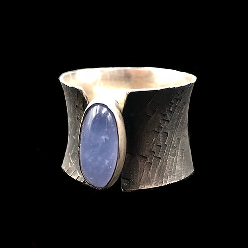 Blue Chalcedony Industrial Ring