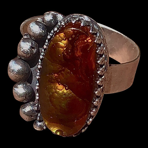 Fire Agate Ancients Ring