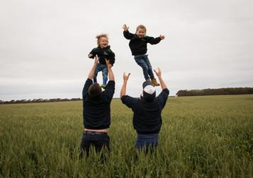 Boys in crop