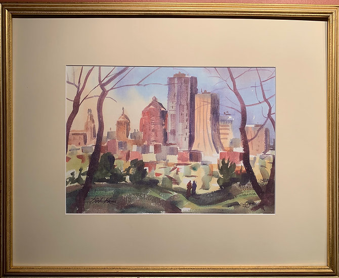 Downtown from Cobbs Hill,  21 x 17