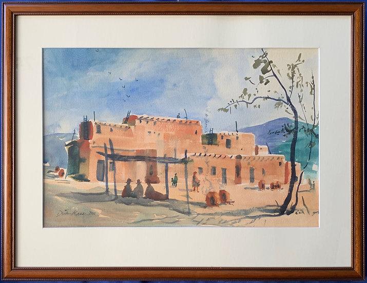 "Taos Pueblo Series-25"" x 20"""