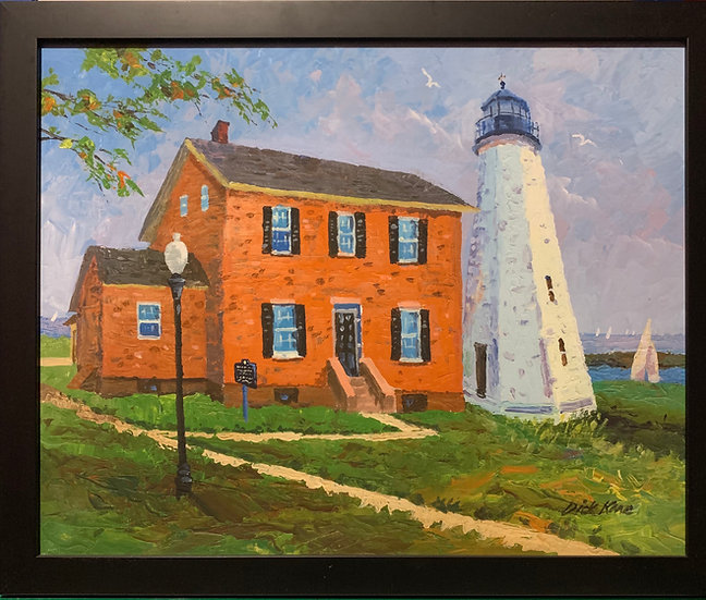 """Lake Ontario Lighthouse- 21"""" x 18"""""""