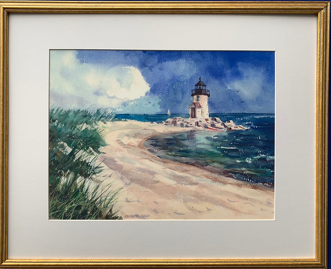 "Brandt Point Lighthouse-21"" x 17"""