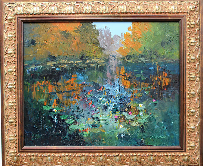 """Water Lily Pond-26"""" x 22"""""""