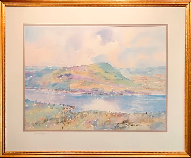 """Bare Hill""Canandaiguia Lake  33 x 27"