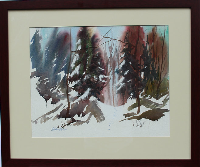 "Snow Covered Boughs-27"" x 22"""