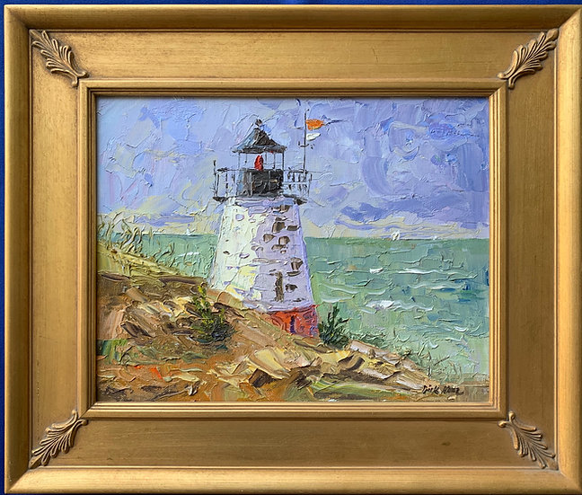 "Castle Point Light, Newport RI- 19"" x 16"""