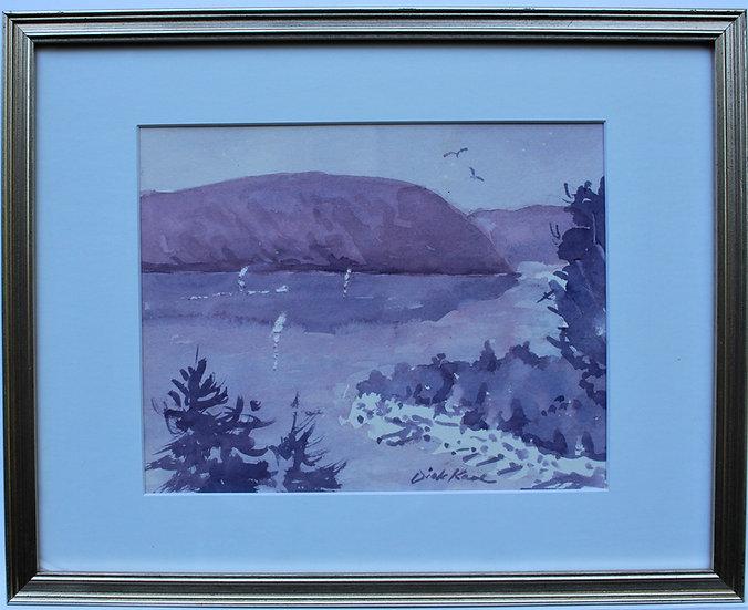 "Looking South, Canandaigua Lake-15"" x 12"""