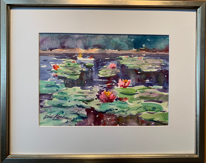 "Waterlilies- 12"" x 15"""