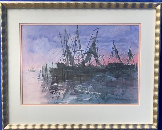 "Shrimp Boats-Shem Creek, SC- 21"" x 17"""