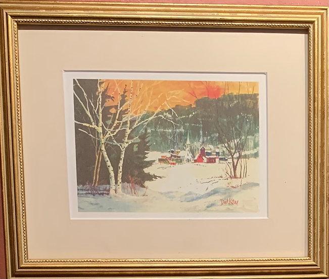 Winter Day in Bloomfield 11 x9