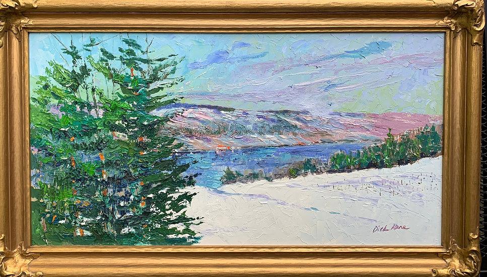 "Finger Lakes Panorama- 34"" x 20""-"