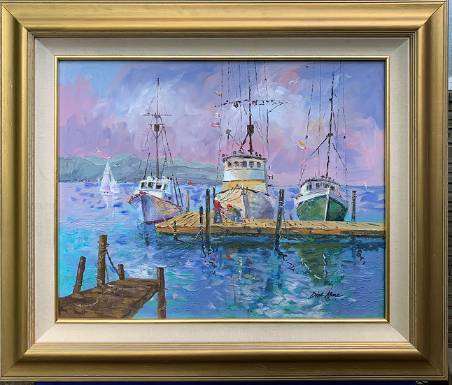 "Morro Bay - 40"" x 33""  **Larger Size"