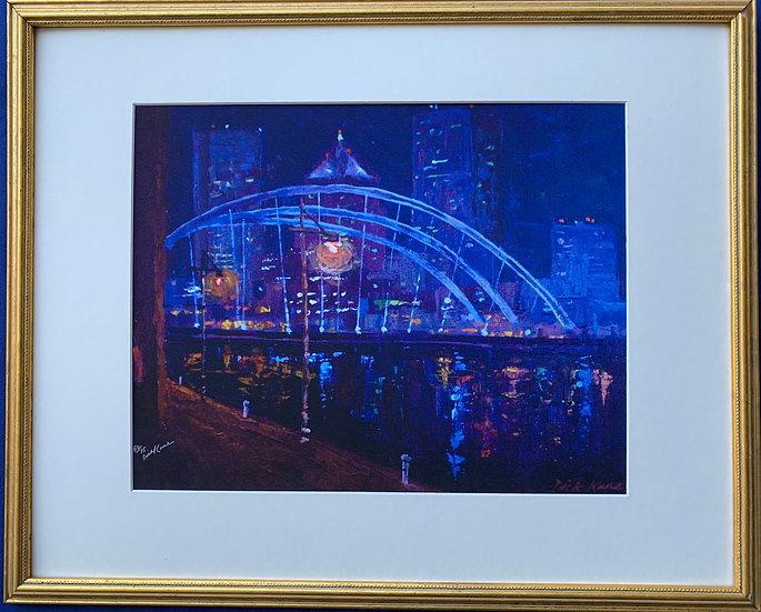 "Downtown Night Bridge-21 'X 17"""