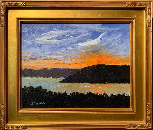 Sunset Over the Bluff  13 x 11