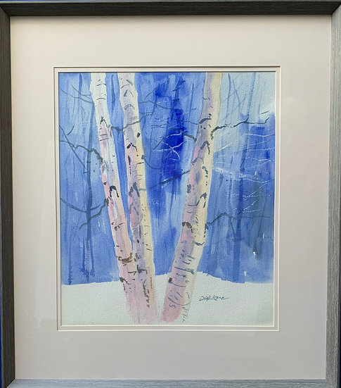 "Winter Birches- 29"" x 33""   **Larger Size"